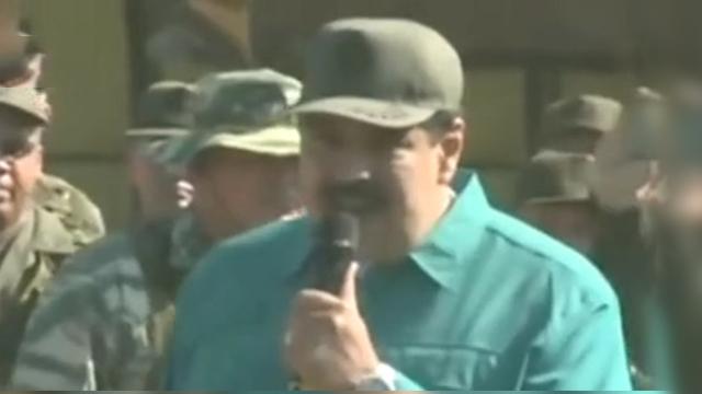 马杜罗视察委内瑞拉军队