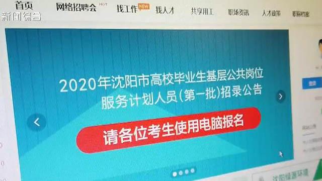2020年沈阳市高校毕业生基层公共服务岗位招录考试延期举行